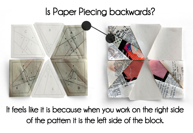 is paper piecing backwards