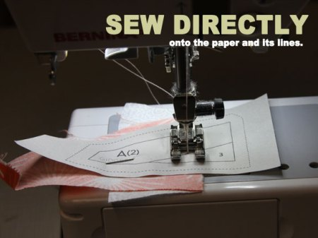sew onto the paper