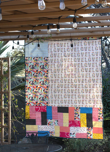 Whole Lotta Love quilt back