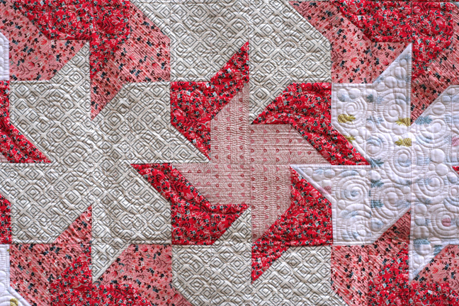 The Double Pinwheel Quilt Quilting