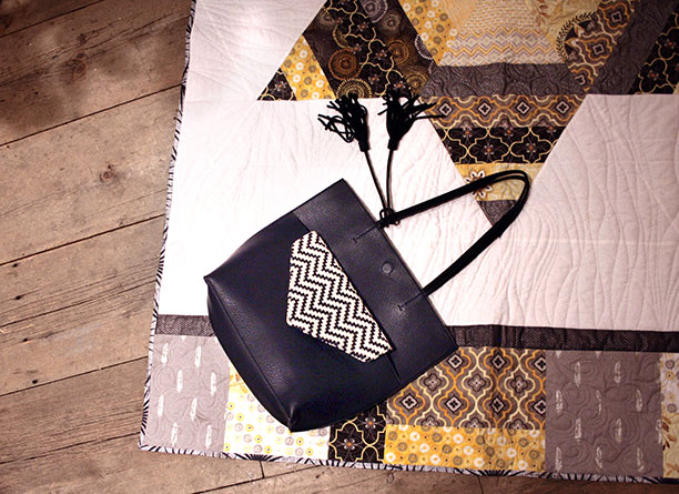 Anthropologie bag and Star Quilt