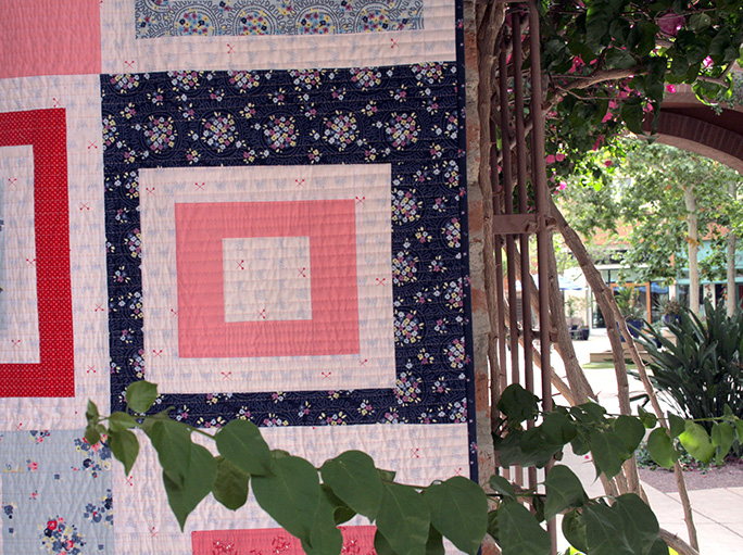 Mod City Center Quilt Block