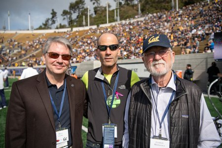 Douglas Clark, Terry Rosen and Clayton Heathcock at 2019 Homecoming game