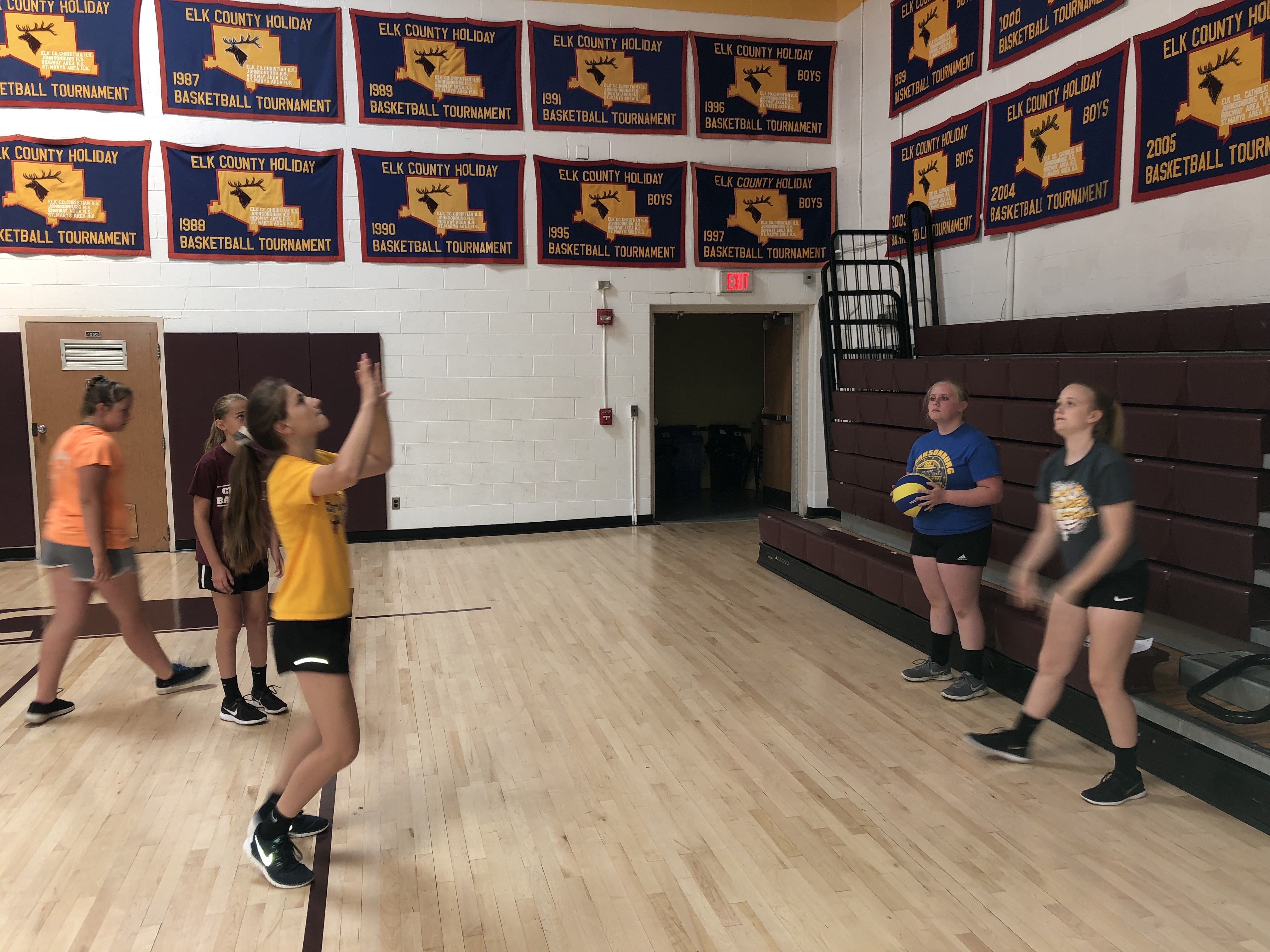 Little Spikers Volleyball Skills Camp Elk County Catholic School System