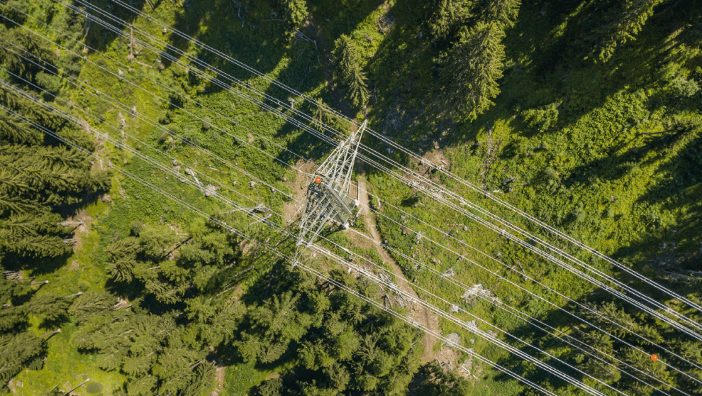 Powerline from above