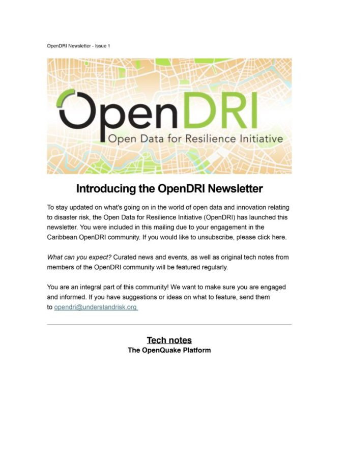 March 2015 OpenDRI Newsletter-1