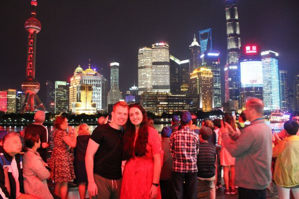 Shanghai, china, skyline, cruise
