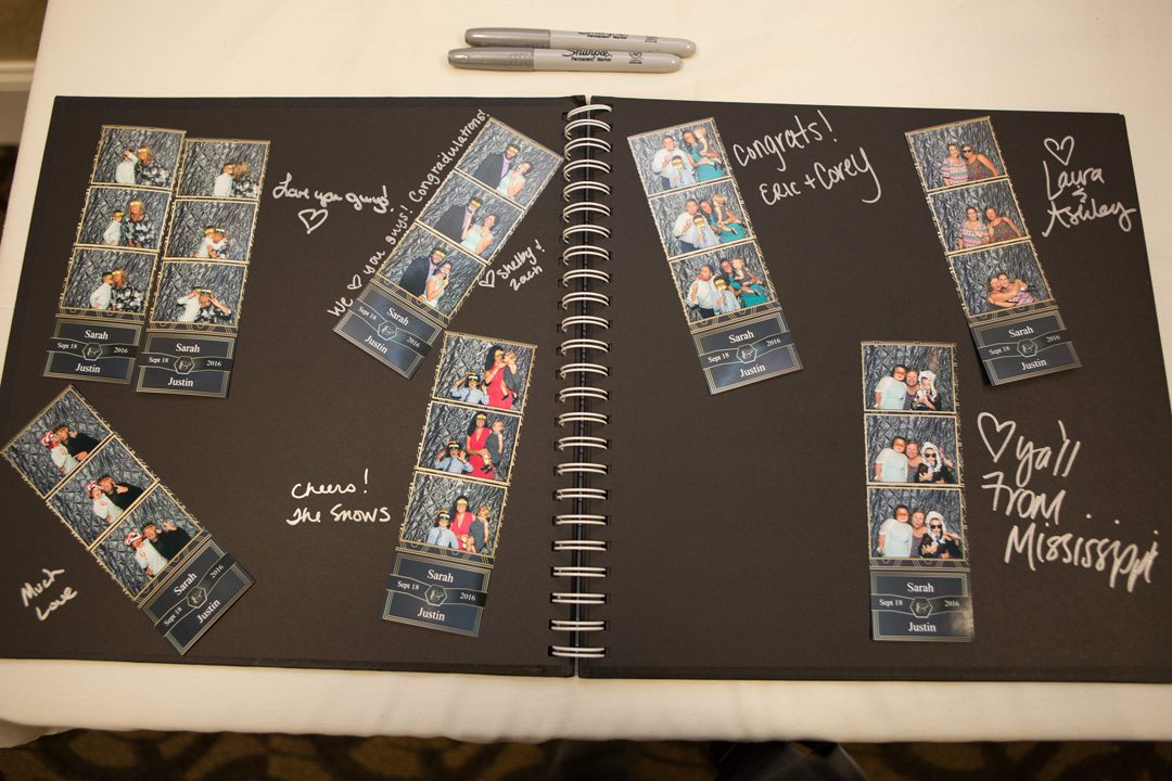 Photo strip guest book