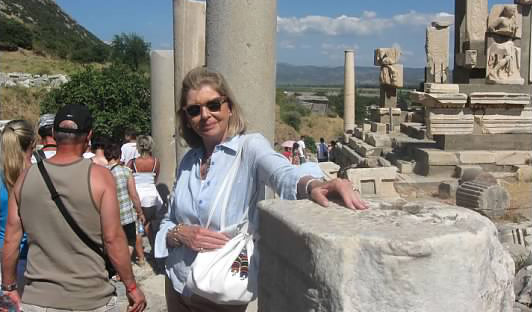 O'Beirne in Ephesus, Turkey, during an NR cruise