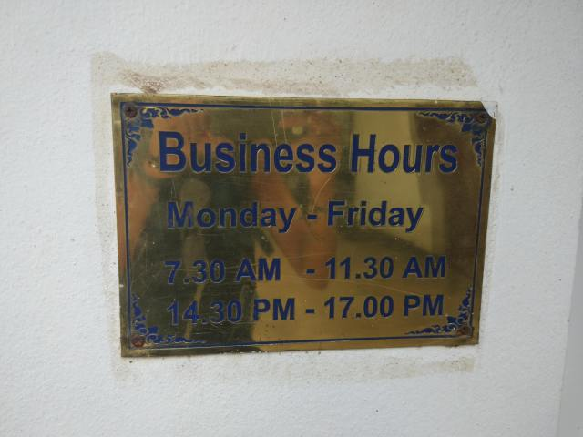 horaires ambassade cambodge