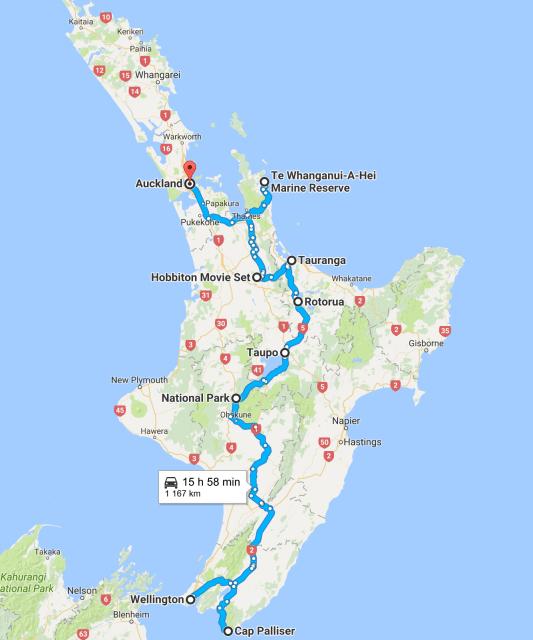 trajet ile du nord