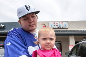 Baseball gambler - Barr with daughter photo
