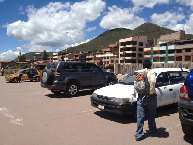 Arriving at the Cusco Airport - such a beautiful day!