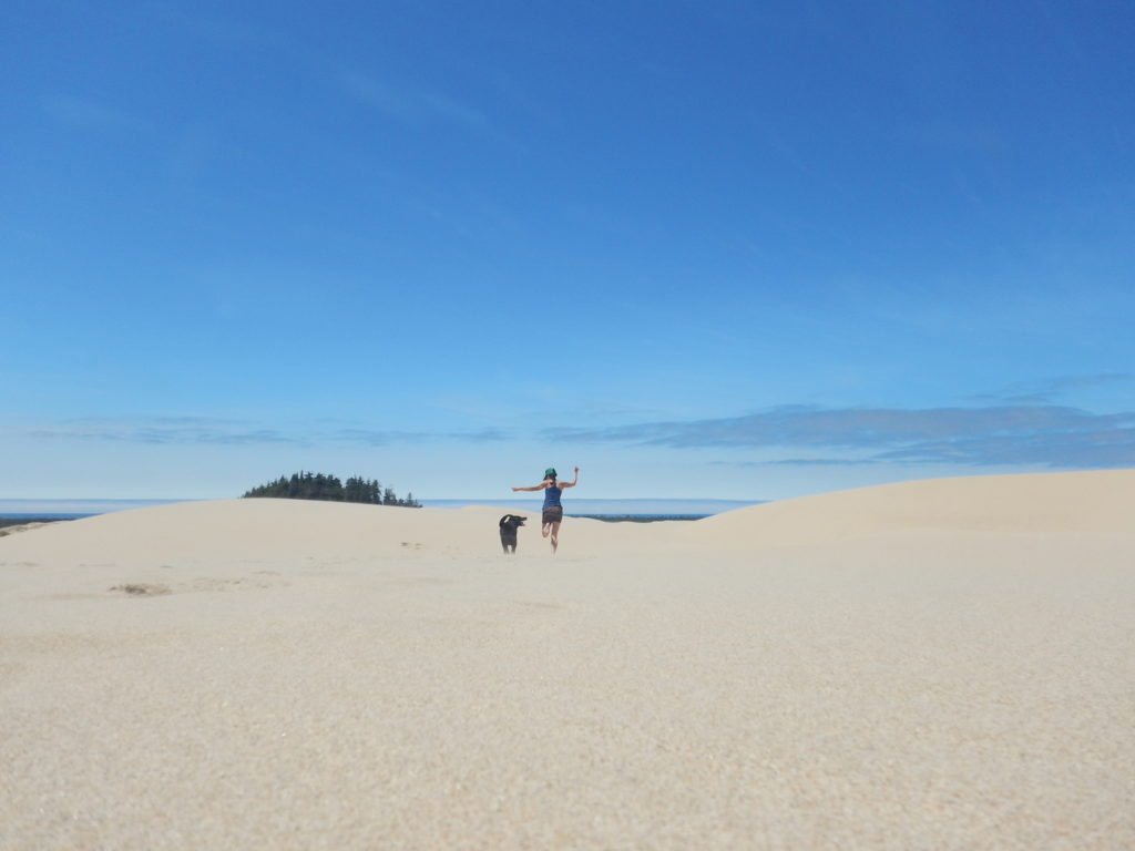 Having way too much fun at the sand dunes!