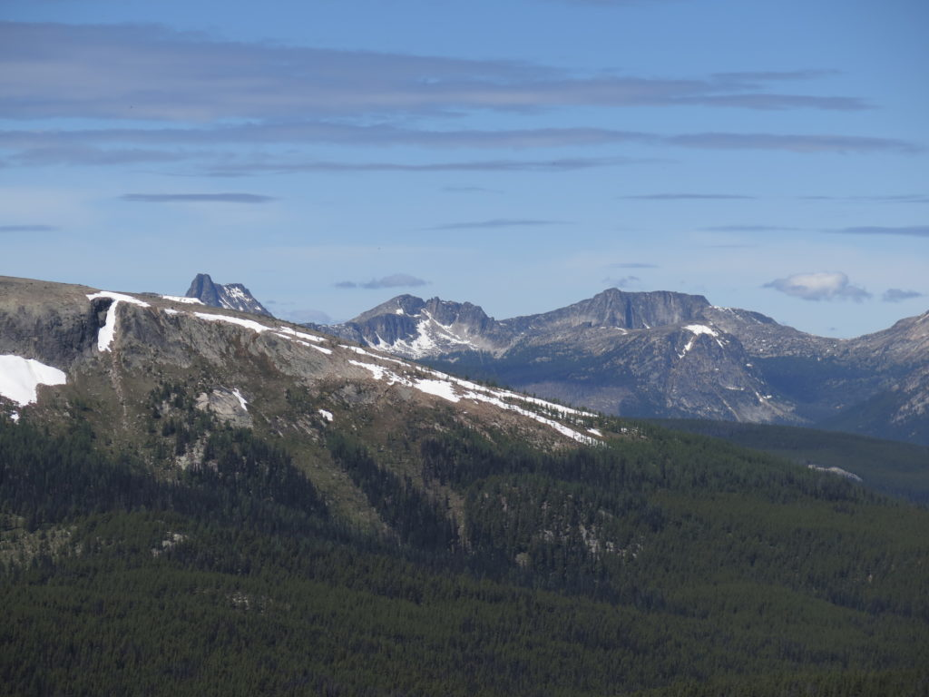 Views of the North Cascades from the top of Rock Mountain. From this perspective I'm not sure which ones they are...