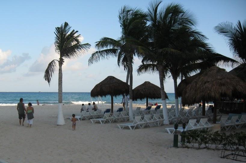Enjoying the beach in Playa