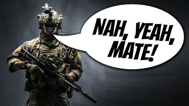 australian troops, australian slang, aussie troops slang, american soldiers, us marines, ordered not to use slang