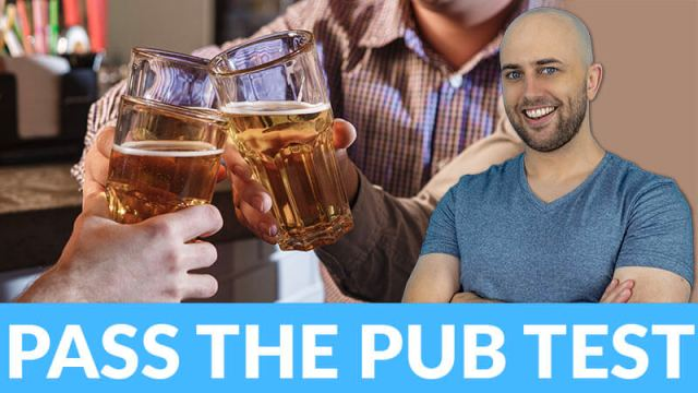 image shows smiling pete smissen with image of people doing a cheers with several glasses of beers with the text