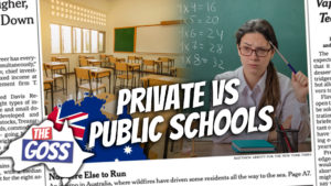 pete smissen, host of aussie english podcast, ian smissen father, funding war private and public schools australia, federal funding for schools australia