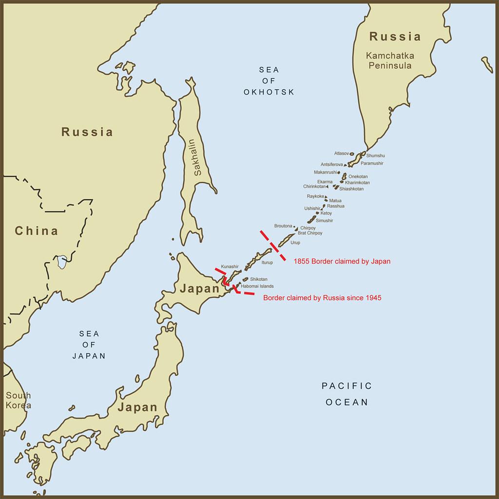 A Map Of The Kuril Islands Border Dispute Between Japan An