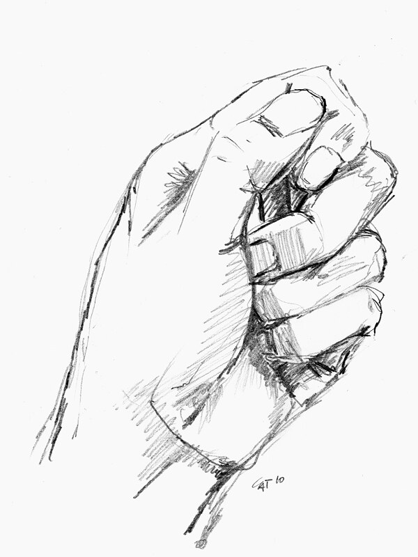 Hand Holding Something Sketch : holding, something, sketch, Sketch, Holding, Piece, Rubber, (e…, Flickr