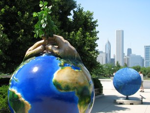 Cool Globes Chicago Hands Working Together