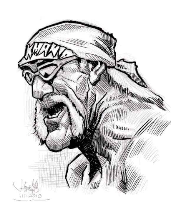 Hulk Hogan Drawing : hogan, drawing, Digital, Caricature, Sketch, Hogan, Small, Www.ca…, Flickr
