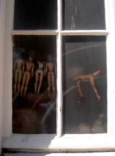 Orgy seen through window