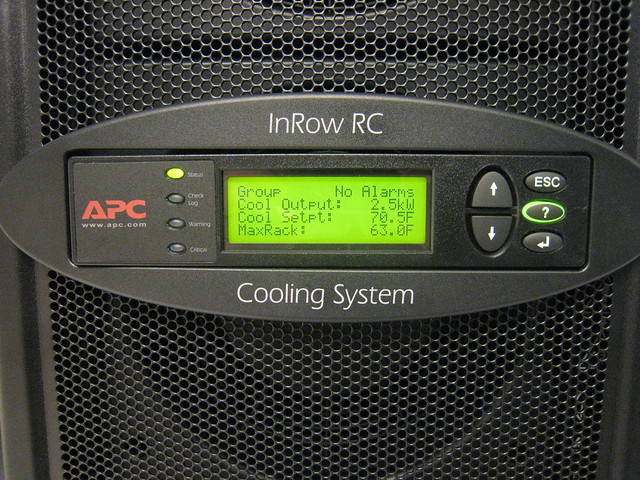 APC inrow cooling controls  Air chilling system that can