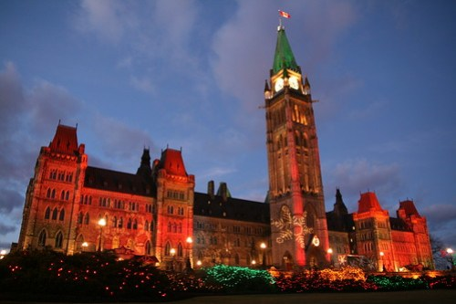 Christmas Eve on Parliament Hill