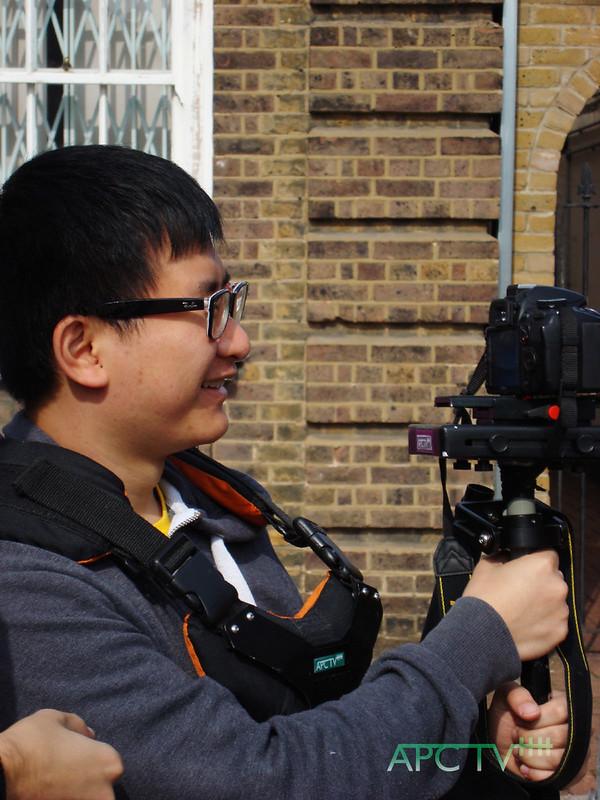 Wai Wan on camera