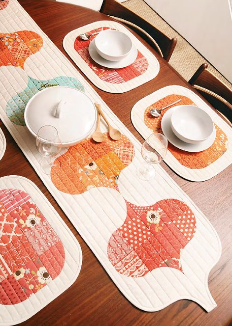 DP Table Runner & Mats (British Patchwork & Quilting, April'16)