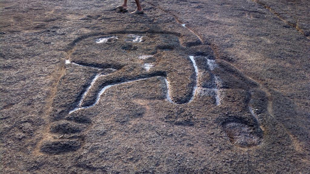 Elephant petroglyph