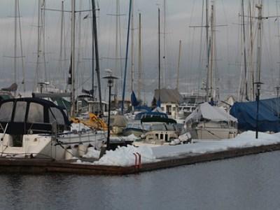 Ødeleggelser i båthavna 27.01.2016