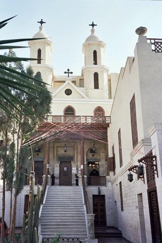 exterior Iglesia de Santa Maria o Colgante Barrio Copto El Cairo Egipto 01