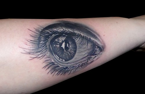 Tatuaje Ojo Realista Antebrazo Black Grey Jaca Www13depic Flickr