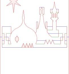 kirigami diagram pop up card prince regent royal brighton pavilion rooftop skyline [ 1129 x 1600 Pixel ]