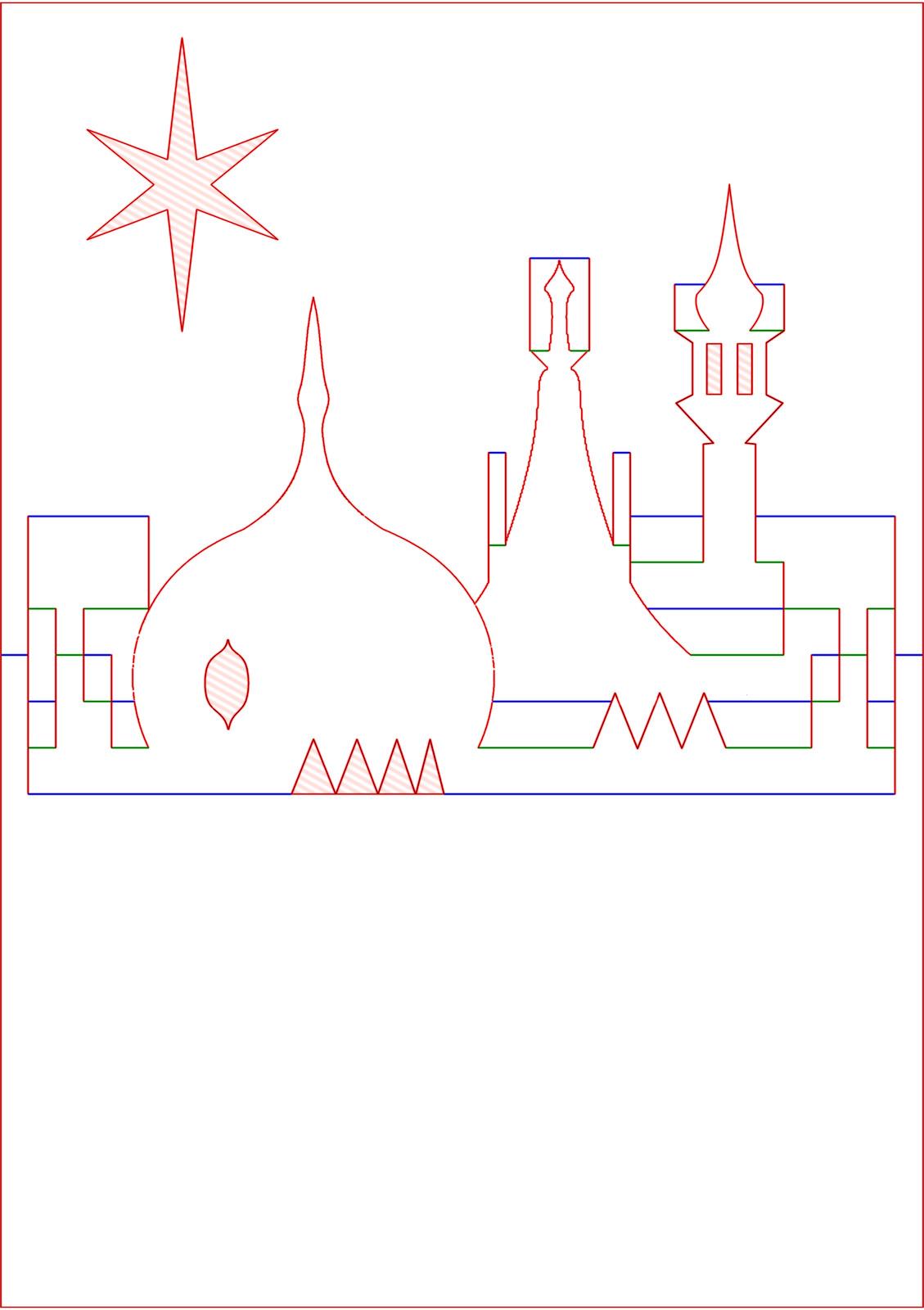 hight resolution of kirigami diagram pop up card prince regent royal brighton pavilion rooftop skyline