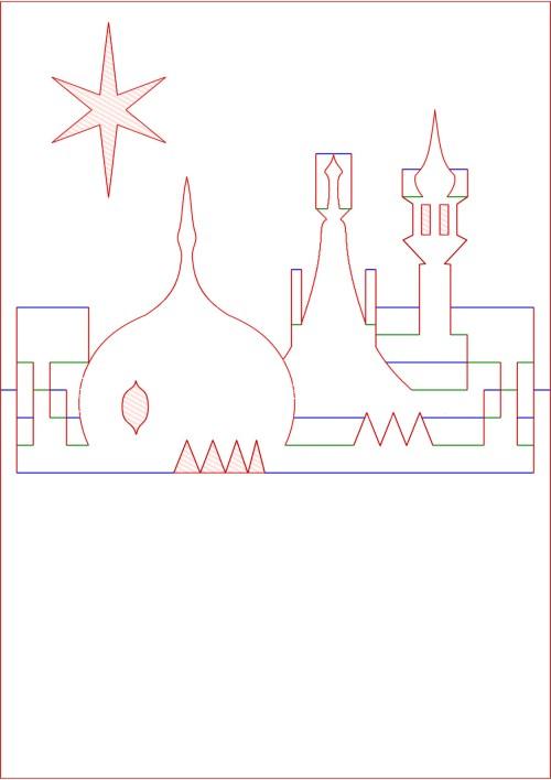 small resolution of kirigami diagram pop up card prince regent royal brighton pavilion rooftop skyline