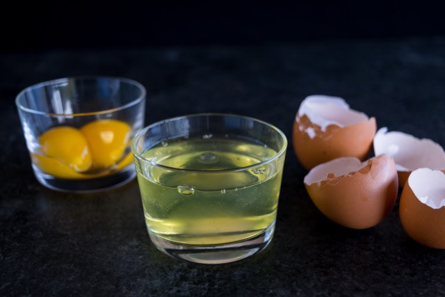 separating the egg whites