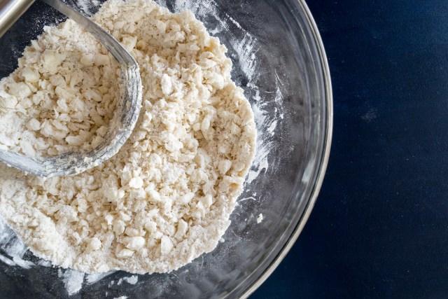 flour, salt, sugar, and butter