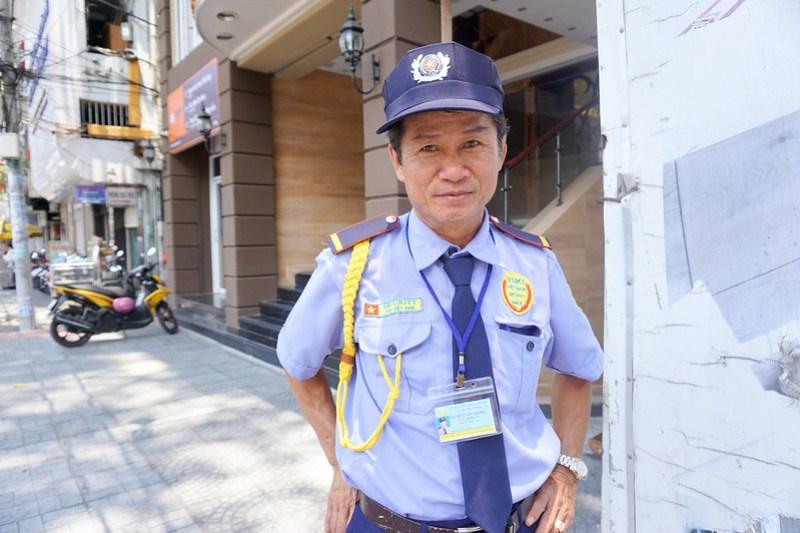 Hotel Security Guard. Ho Chi Minh City, Vietnam, April 2016