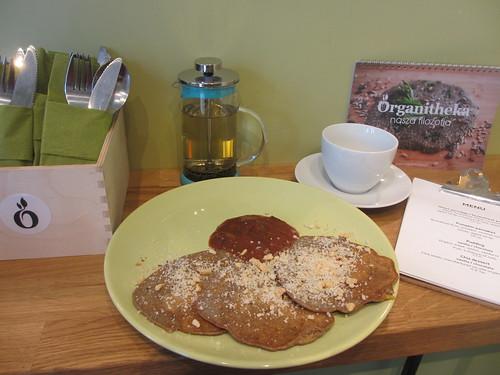 Pannkaksfrukost på Bistro Organitheka