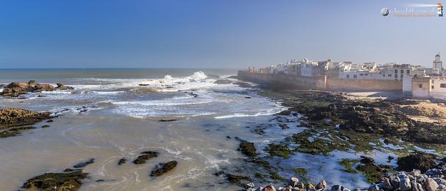 Essaouira below seafog