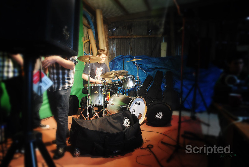 Adam on the Drums