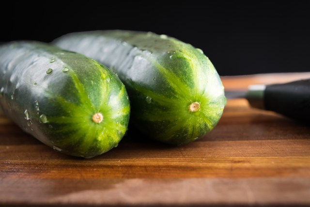 emerald-green cucumbers
