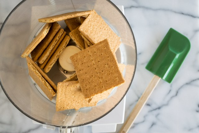 the graham crackers are ready to grind