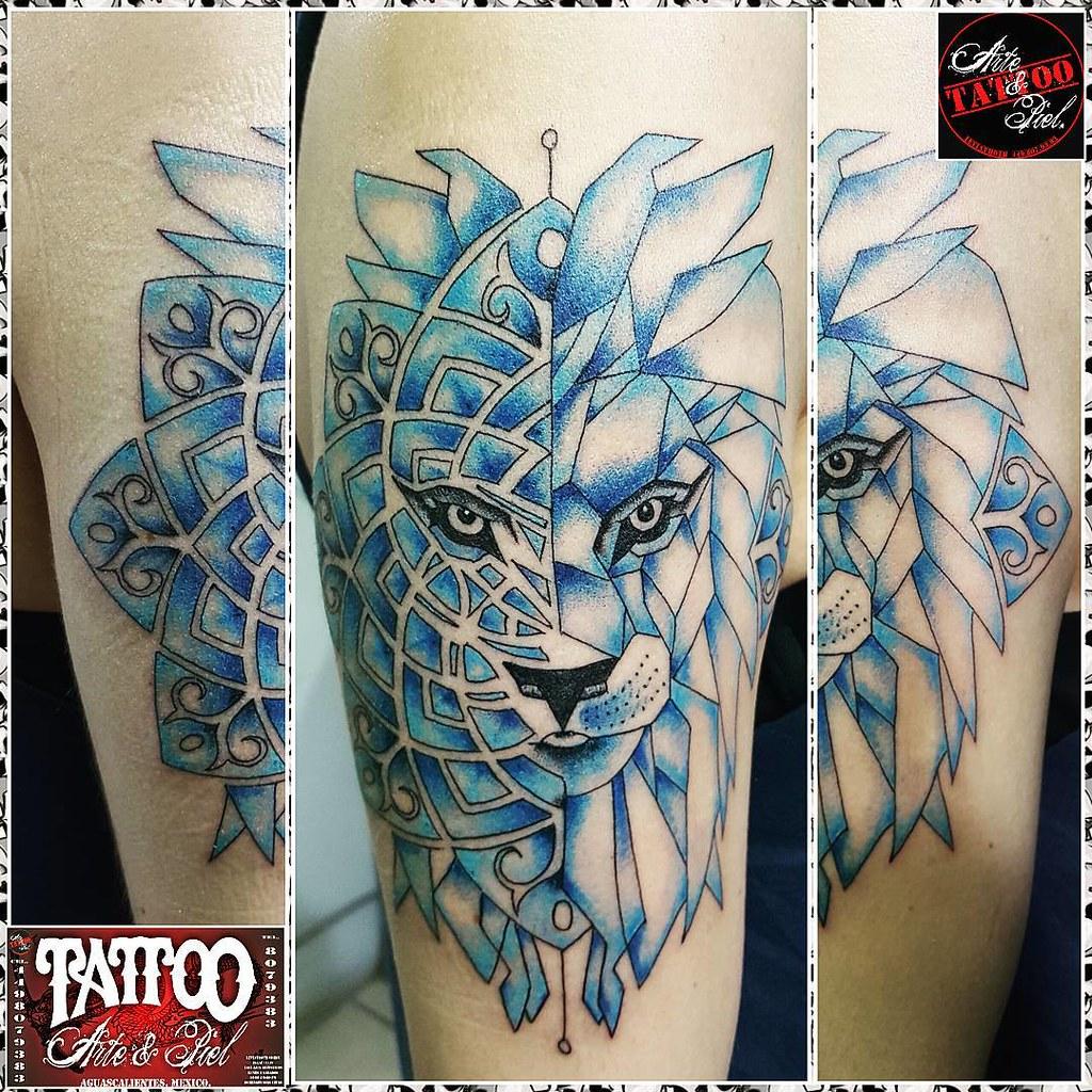 Leon Simetria Mandala Color Brazo Tattooarteypiel T Flickr