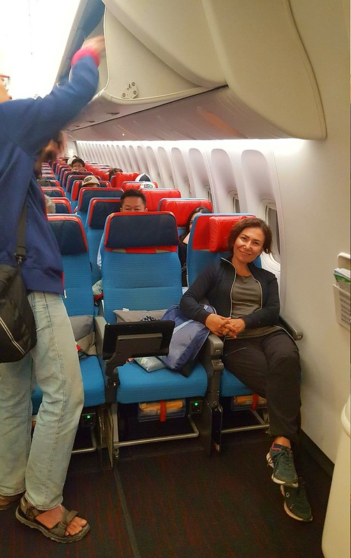 Best legroom ever for the long flight from Istanbul to Jakarta by bryandkeith on flickr