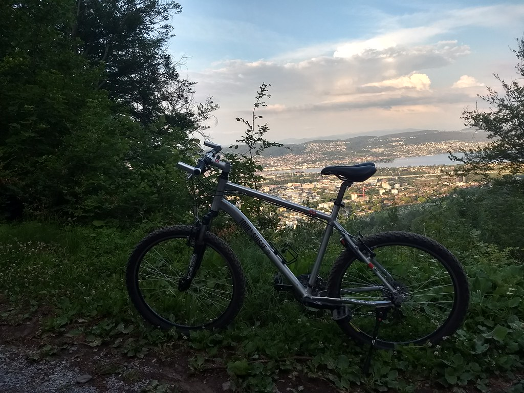 SBB Rental Bike at the top of Üetliberg